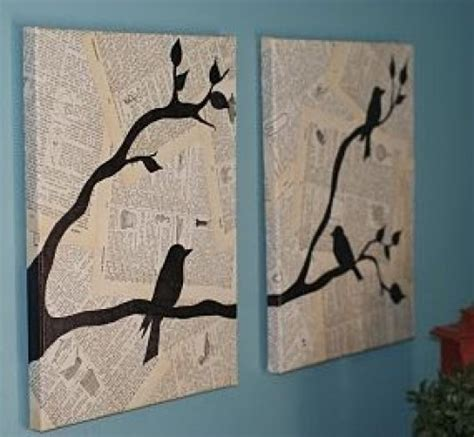 newspaper arts and crafts for some easy and diy newspaper wall hangings and d 233 cor