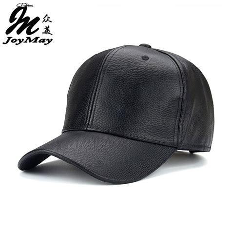 Topi Trucker A 01 1 joymay 2016 new pu leather baseball cap hip hop caps gorras snapback hat biker trucker for