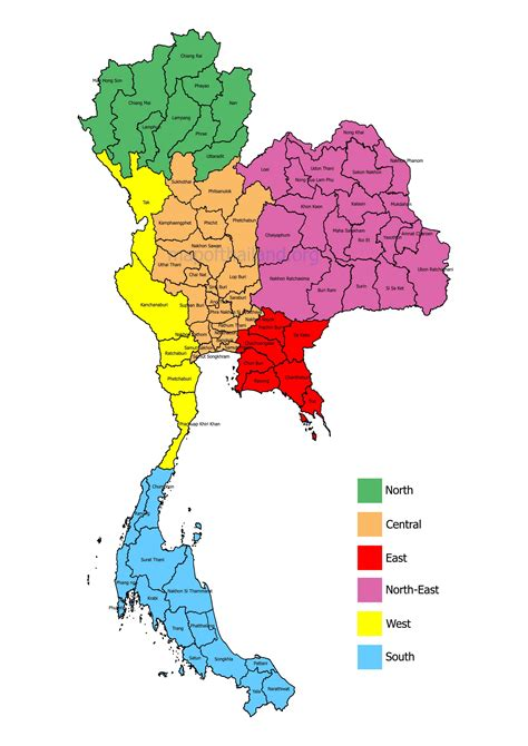 map thailand map of thailand