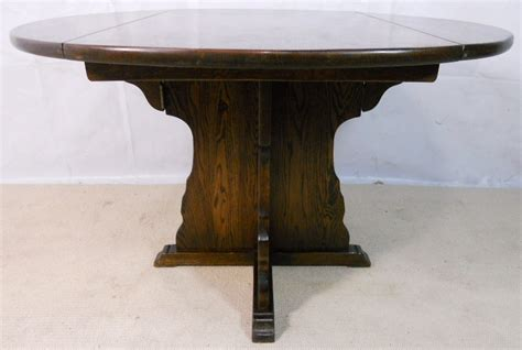 quality oak pedestal dining table sold