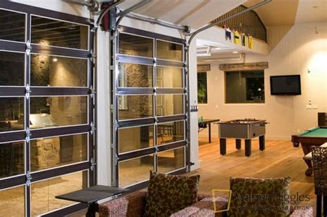 glass garge doors for indoor outdoor living photos a pool house the stuff guide