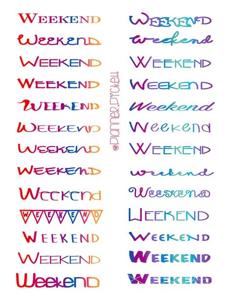 printable weekend stickers best 25 kikki planner ideas on pinterest planner