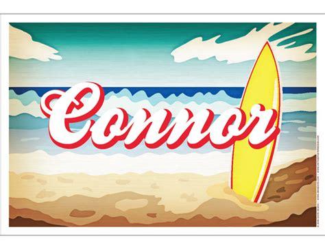 poster design name custom name poster surfboard vintage poster design by
