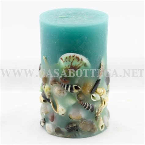 candele con conchiglie candele ad trend con conchiglie in 4 colori casabottega