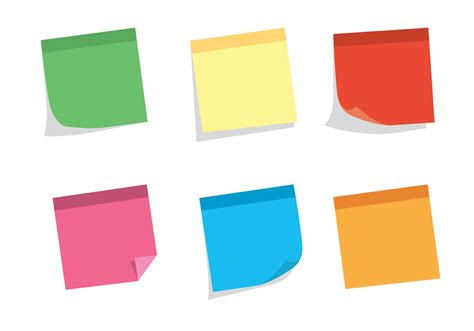 Sticky Notes free vector sticky note set free vector