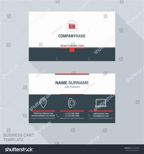 clean modern business card template modern creative clean business card template stock vector