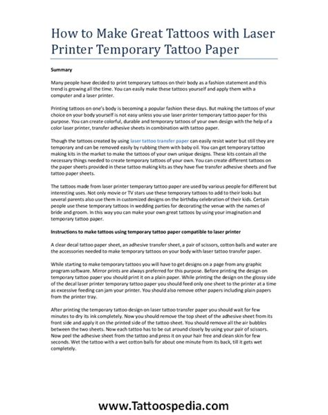 temporary tattoo paper michaels temporary laser printer 2