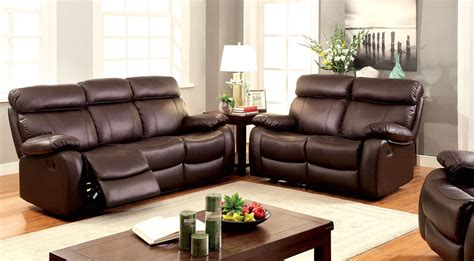 Lyndon Casual Brown Dual Reclining Motion Sofa In Top Top Grain Leather Sofa Recliner