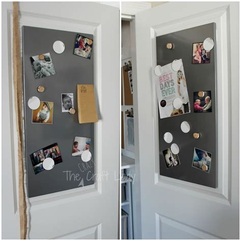 Magnetic Closet Doors Home Office In A Closet How To Make The Most Of A Bit Of Space The Craft