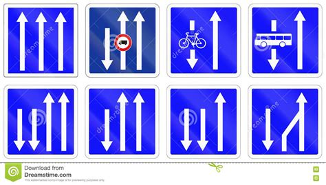 printable french road signs set of french information road signs stock illustration