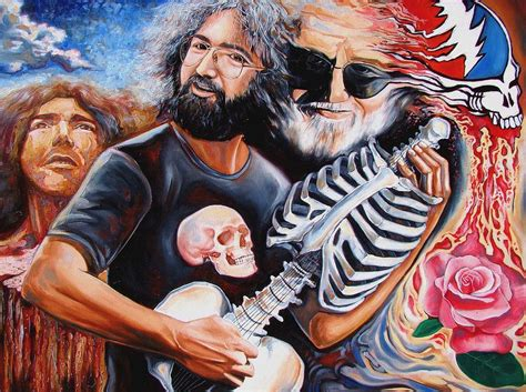 jerry painting jerry garcia and the grateful dead by darwin