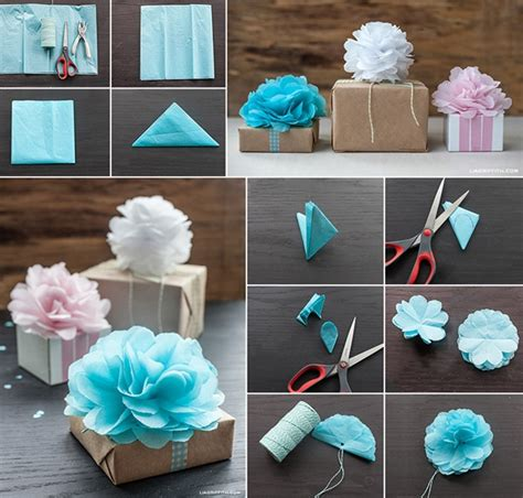 Pom Poms With Tissue Paper - wonderful diy tissue paper pom pom flower decoration