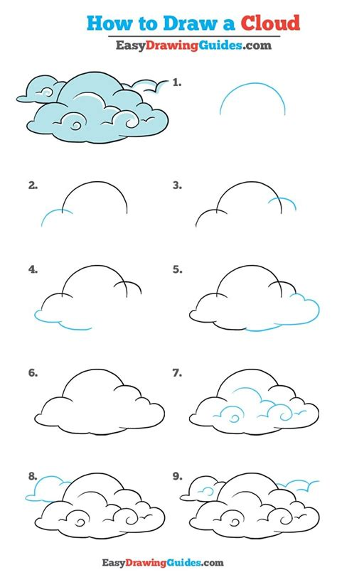 simple cloud drawing how to draw clouds really easy drawing tutorial