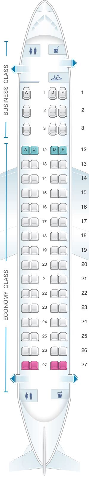 embraer erj 175 seat map seat map air canada embraer emb 175 seatmaestro