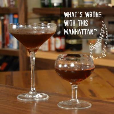 manhattan glasses barware why does this manhattan taste so weird a bar above
