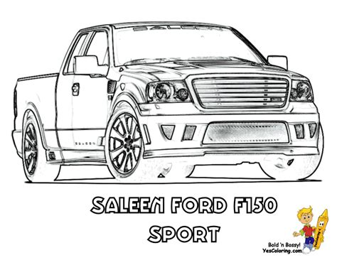 F150 Coloring Page by American Truck Coloring Sheet Free Trucks Jeep