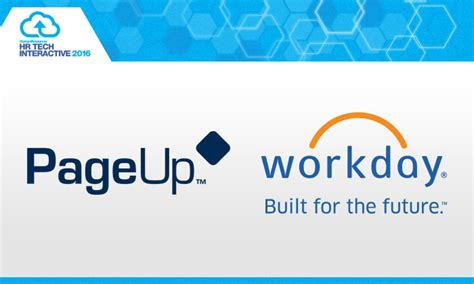 agoda workday pageup and workday join hr tech interactive 2016 human