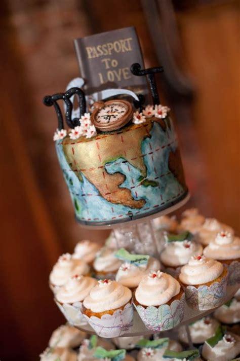 Hochzeitstorte Thema Reisen by 28 Beautiful Travel Themed Wedding Cakes Weddingomania
