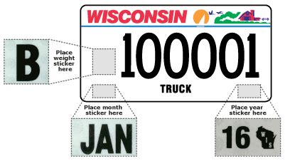 Car License Types by Wisconsin Department Of Motor Vehicles License Plate