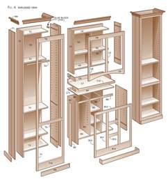 kitchen pantry cabinet plans free sycamore pantry popular woodworking magazine