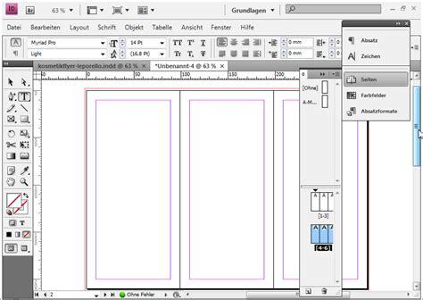 Design Pro 5 Neue Vorlage Erstellen Flyerdesign Im Faltformat Am Beispiel Eines Kosmetikstudios Indesign Tutorials De