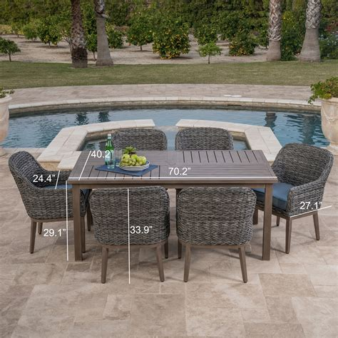 garden ridge 7pc dining collection mission furniture
