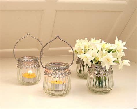 tea light holders glass hanging tea light holder by lilly