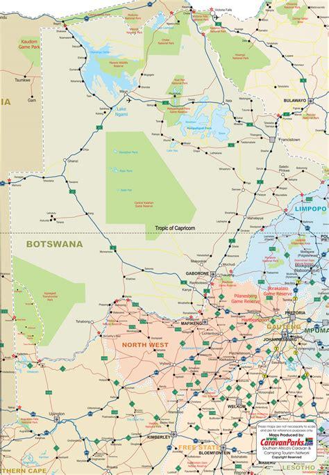botswana map printable botswana map