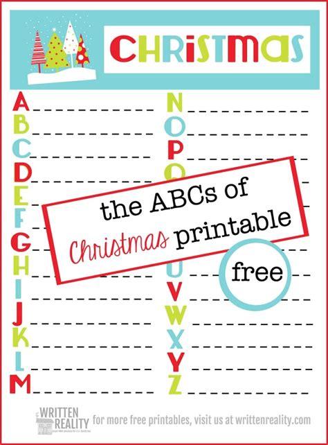 free abc christmas printable