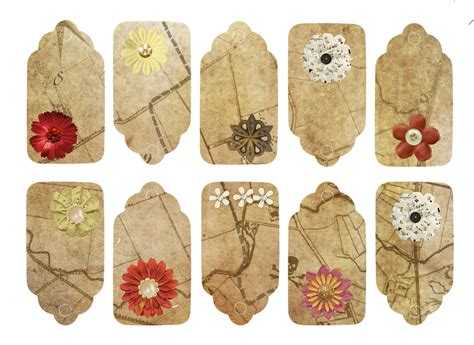flower tags template free free illustration flower map tags vintage label