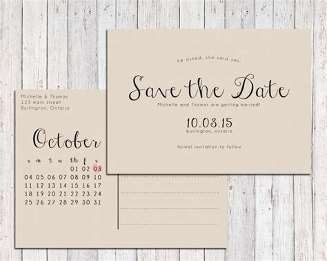 rustic save the date printable save the date postcard