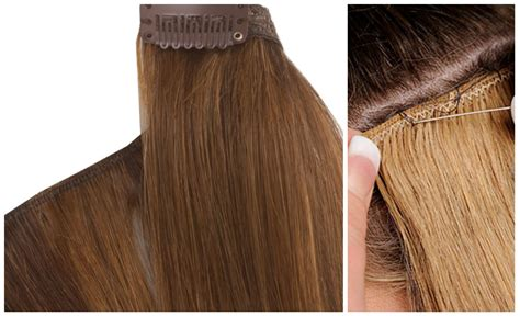 hair extension clips difference between weave hair extensions and clip in hair