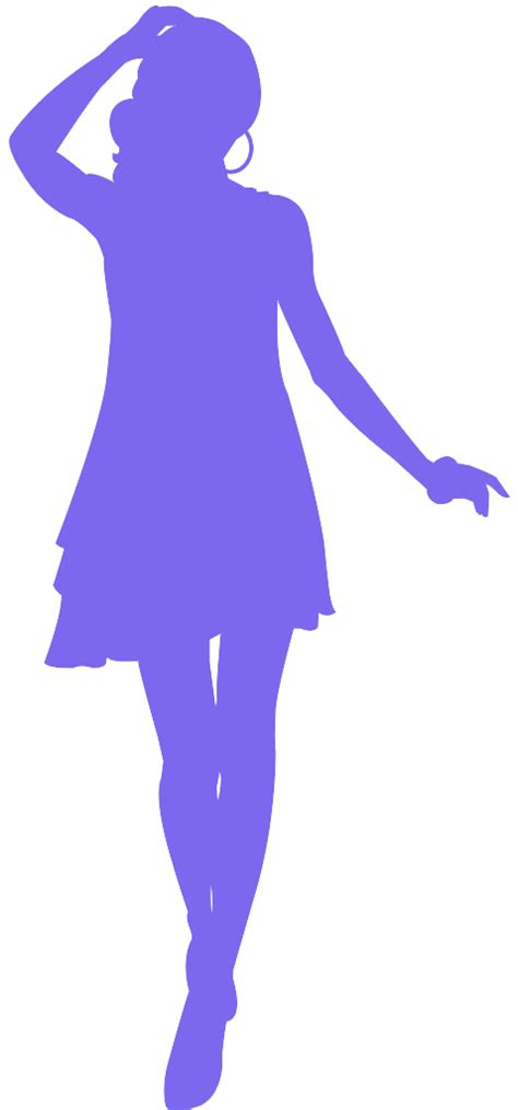 beautiful girl silhouette  vector silhouettes