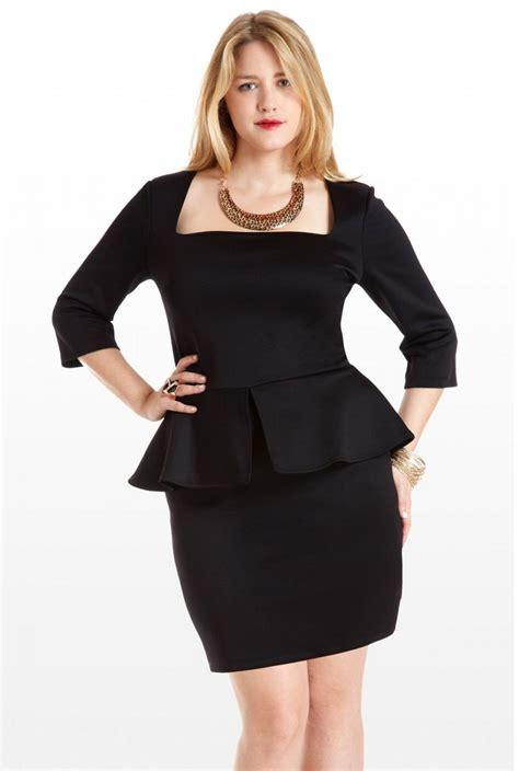 plus size plus size peplum dress dressed up