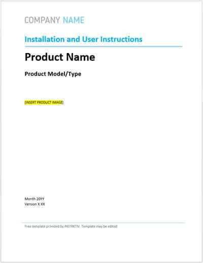 user manual template free user manual template and guide to create your own manual