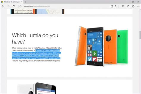 windows 10 mobile first wave to be available on lumia 640 microsoft reveals the first windows phone models to get