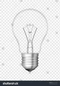 Idea Lamp Light Bulb Transparent Bulb Design Realistic Stock Vector