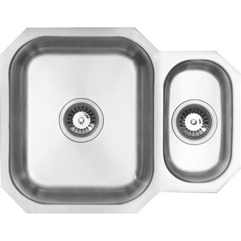 undermount 1 1 2 bowl kitchen sink 594 x 460 x 195mm
