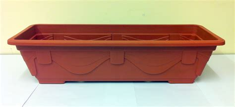 rectangular plastic planters rectangular box planter garden flower plants plant terracotta plastic effect ebay