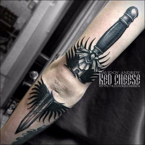 arm dolch tattoo von davidov andrew