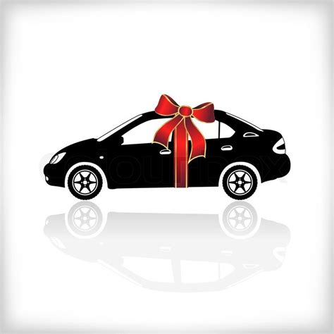 Geschenk Auto by Gift Car With Bow Vector Illustration Stock Vector