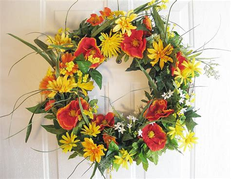 Summer Front Door Wreaths Summer Wreath Front Door Wreath Outdoor Wreath Indoor