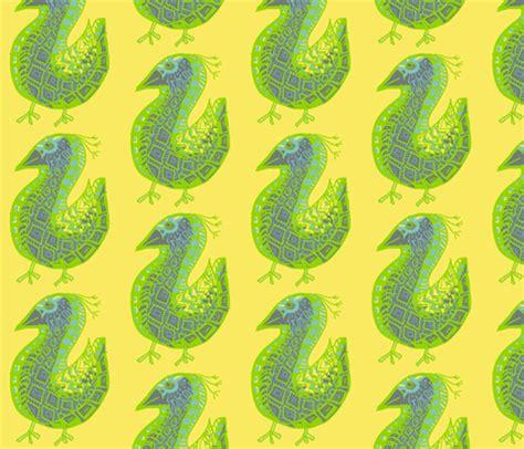 quail pattern fabric pattern bird gray on yellow fabric kcs spoonflower