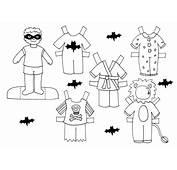 Dibujo Colorear Halloween Doll  De Recortables