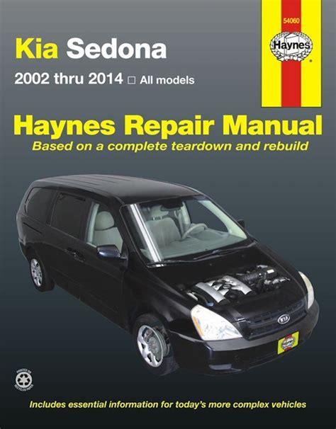 online service manuals 2006 kia sedona parental controls kia sedona service repair manual 2002 2014 haynes 54060