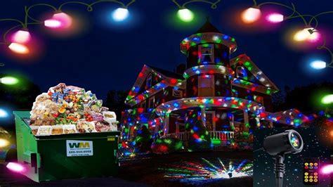 black friday dumpster dive found christmas laser lights