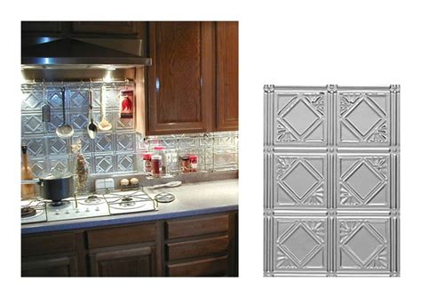 kitchen metal backsplash how to install ceiling tiles as a backsplash hgtv image rustic tin kitchen backsplash