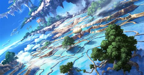 floating island zerochan anime image board