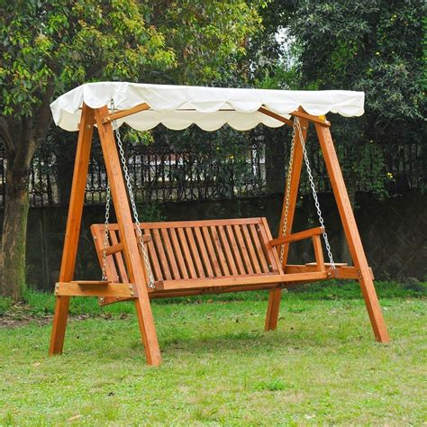 swing bench outdoor fun wooden garden swing seats outdoor furniture