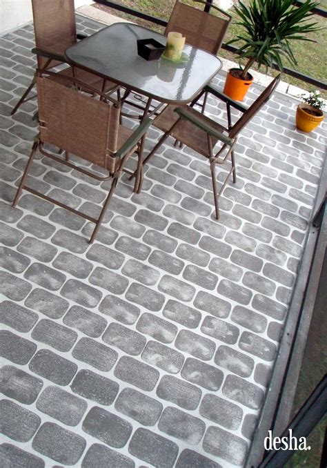 Brick Porch Floor by Desha Faux Brick Patio